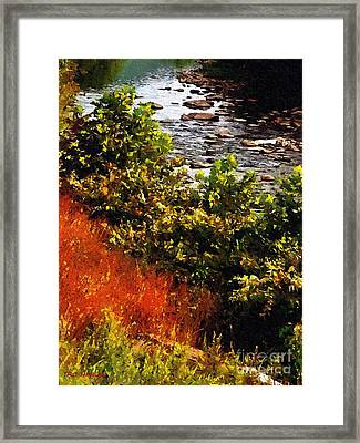 Early Autumn Along The Naugatuck Framed Print by RC DeWinter