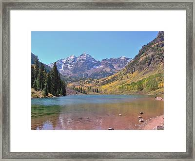 Early Autumn At The Bells Framed Print by Margaret Bobb