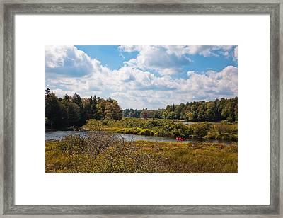 Early Autumn At The Tobie Trail Bridge Framed Print