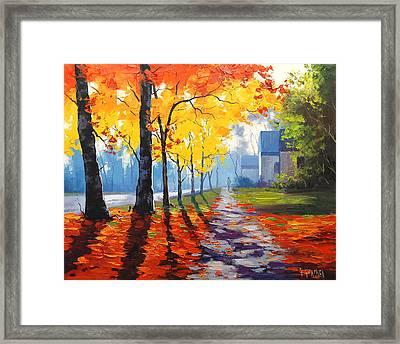 Early Autumn Light Framed Print by Graham Gercken