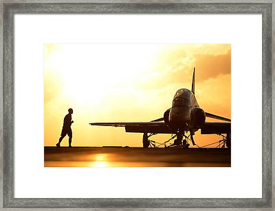 Early Birds Us Navy Framed Print by Celestial Images