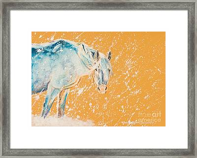 Early Blizzard Framed Print