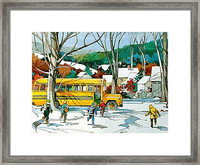 Early Bus Framed Print by Art Scholz