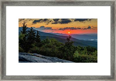 Blue Ridge Parkway Sunrise - Beacon Heights - North Carolina Framed Print