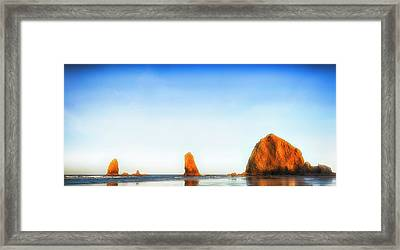 Early Dawn Shores Framed Print