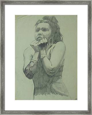 Framed Print featuring the drawing Early Drawing by Mike Jeffries