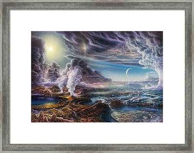Early Earth Framed Print by Don Dixon