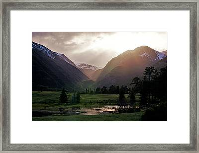 Early Evening Light In The Valley Framed Print