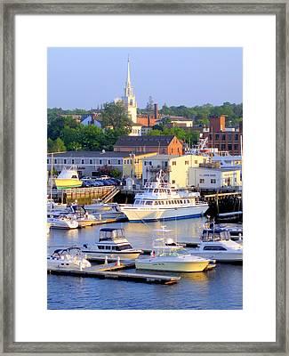 Early Evening On The Merrimack River Framed Print