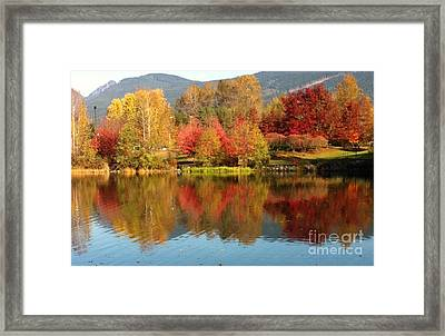 Framed Print featuring the painting Early Fall At Lafarge Lake by Rod Jellison