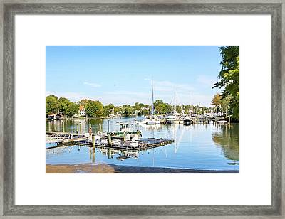 Framed Print featuring the photograph Early Fall Day On Spa Creek by Charles Kraus