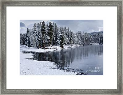 Early Fall Storm In Yellowstone Framed Print by Sandra Bronstein