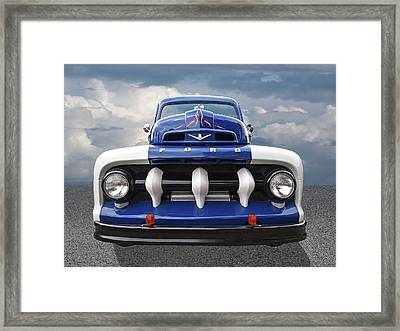 Early Fifties Ford V8 F-1 Truck Framed Print