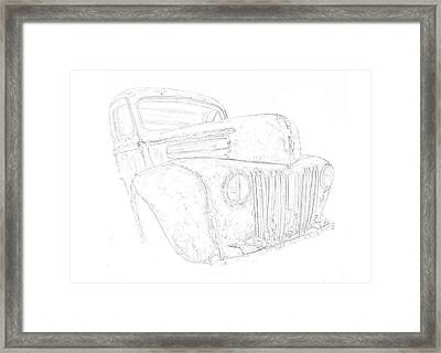 Early Ford Truck Framed Print