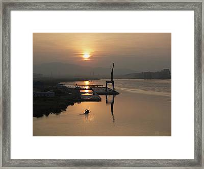 Framed Print featuring the photograph Early Hour On The River by Lucinda Walter