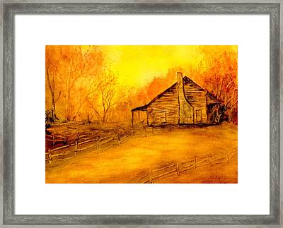 Framed Print featuring the painting Early Kentucky Times by Gail Kirtz