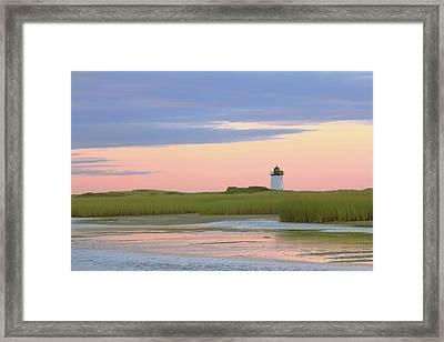 Framed Print featuring the photograph Early Light At Wood End Light by Roupen  Baker
