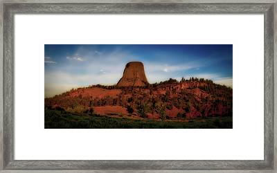 Early Light Devils Tower Wyoming Panorama 03 Framed Print by Thomas Woolworth