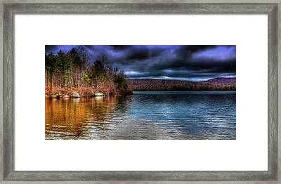 Framed Print featuring the photograph Early May On Limekiln Lake by David Patterson