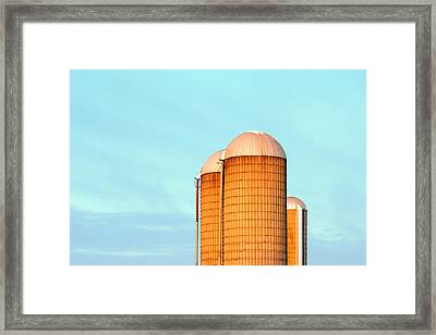 Early Monring Silos Framed Print