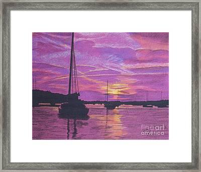 Early Morn In Maine Framed Print by Tobi Czumak