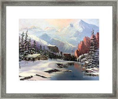 Early Morning In The Rocky Mountains Framed Print