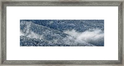 Early Morning After A Snowfall Framed Print