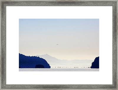 Early Morning Ala Spit Whidbey Island Framed Print