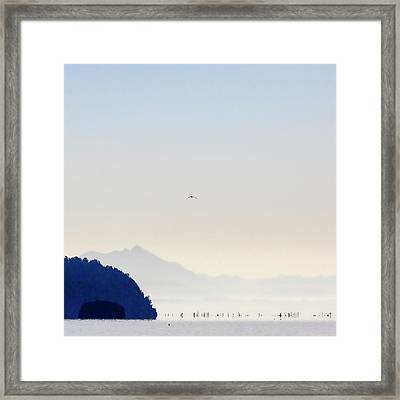 Early Morning Ala Spit Whidbey Island Square Format Framed Print