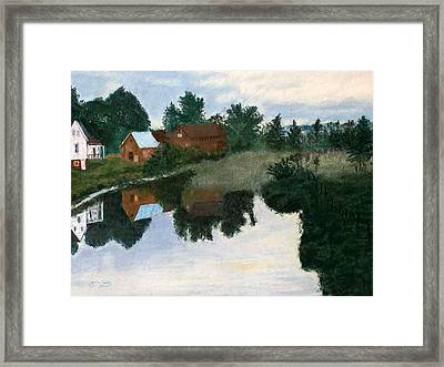 Early Morning Along The Wabash River Framed Print by Jack Spath