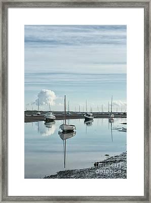Early Morning At Brancaster Staithe Norfolk Uk Framed Print by John Edwards