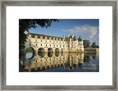 Early Morning At Chateau Chenonceau Framed Print