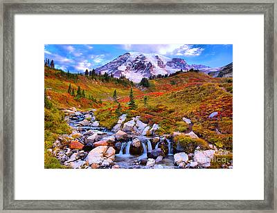 Early Morning At Edith Creek Framed Print by Adam Jewell