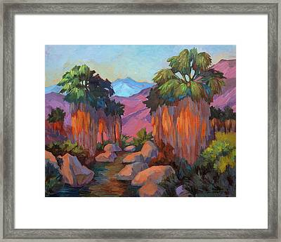 Early Morning At Indian Canyon Framed Print by Diane McClary