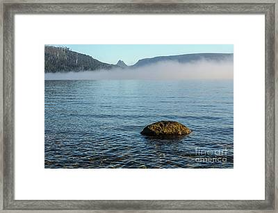 Framed Print featuring the photograph Early Morning At Lake St Clair by Werner Padarin