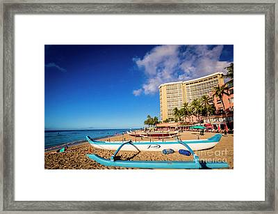 Early Morning At Outrigger Beach,hawaii Framed Print