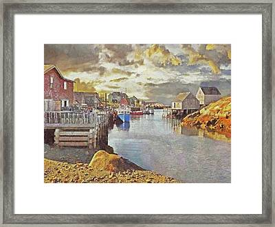 Early Morning At Peggy's Cove In Nova Scotia Framed Print