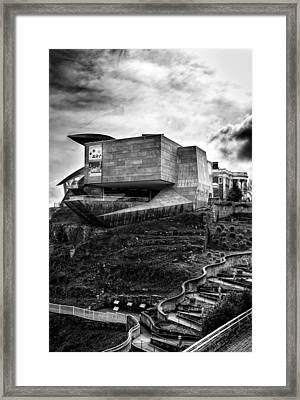 Early Morning At The Hunter Museum In Black And White Framed Print