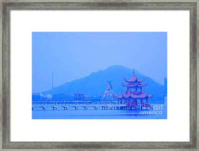 Framed Print featuring the photograph Early Morning At The Lotus Lake by Yali Shi