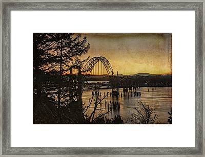 Early Morning At The Yaquina Bay Bridge  Framed Print