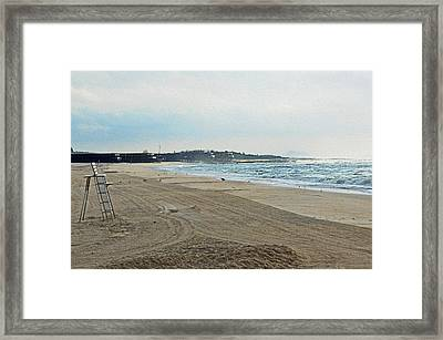 Early Morning Beach Silver Gull Club Framed Print