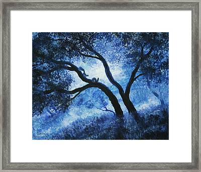 Early Morning Blues At Rancho San Antonio Framed Print by Laura Iverson