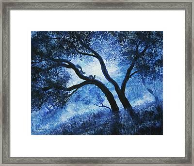 Early Morning Blues At Rancho San Antonio Framed Print