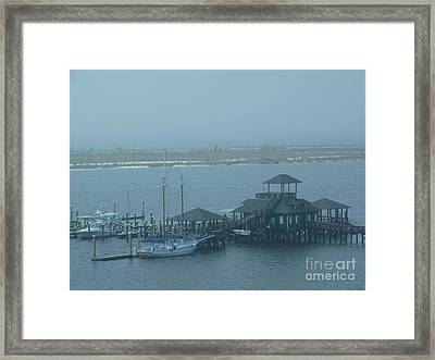 Early Morning Boats Revisited Framed Print by Joseph Baril