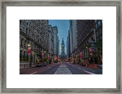 Early Morning Broad Street Framed Print