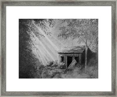 Early Morning Cabin Framed Print