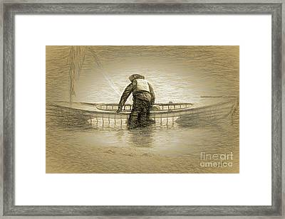 Early Morning Canoe Ride Framed Print by Cheryl Rose