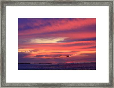Early Morning Cloudy Inlet Framed Print