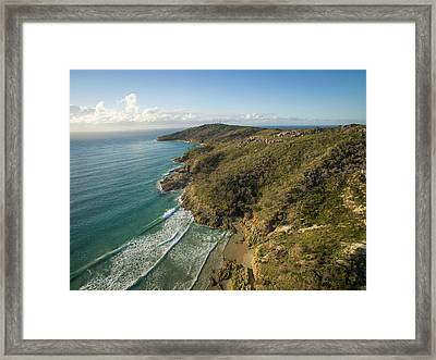 Early Morning Coastal Views On Moreton Island Framed Print