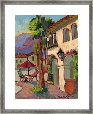 Early Morning Coffee At Old Town La Quinta Framed Print by Diane McClary